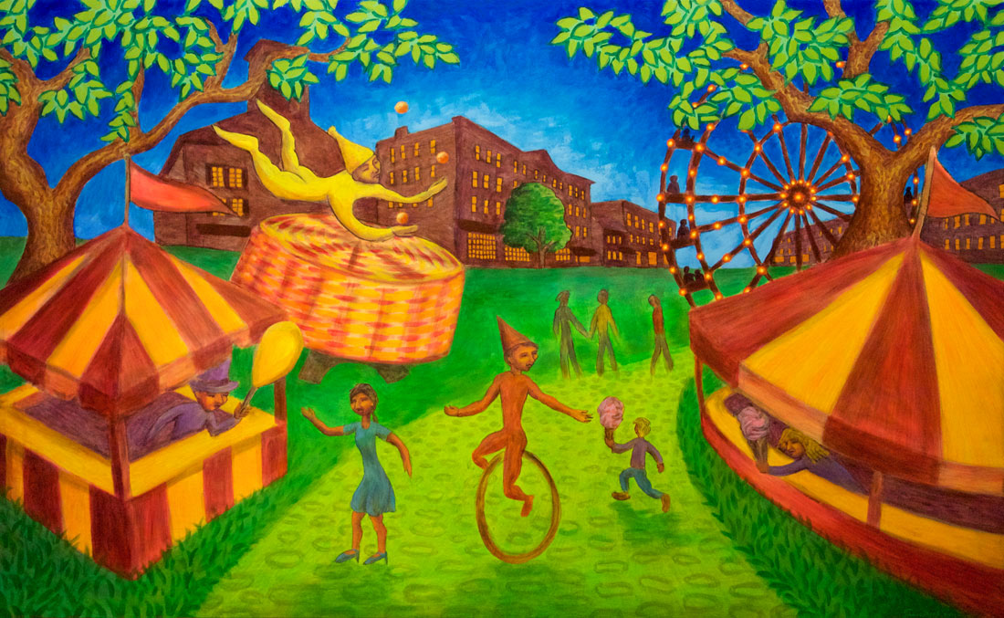 Carnival painting by Trace Meek