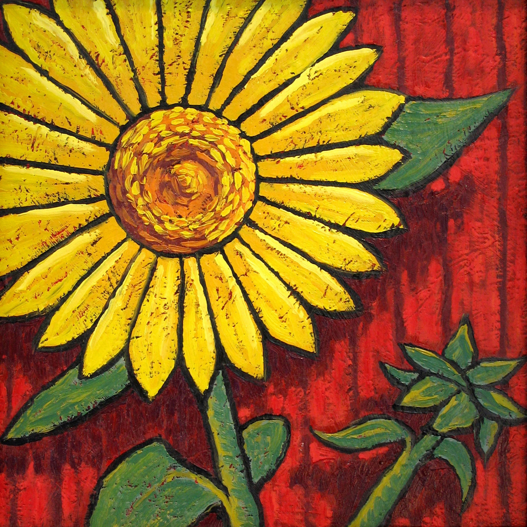 Sunflower painting by Trace Meek