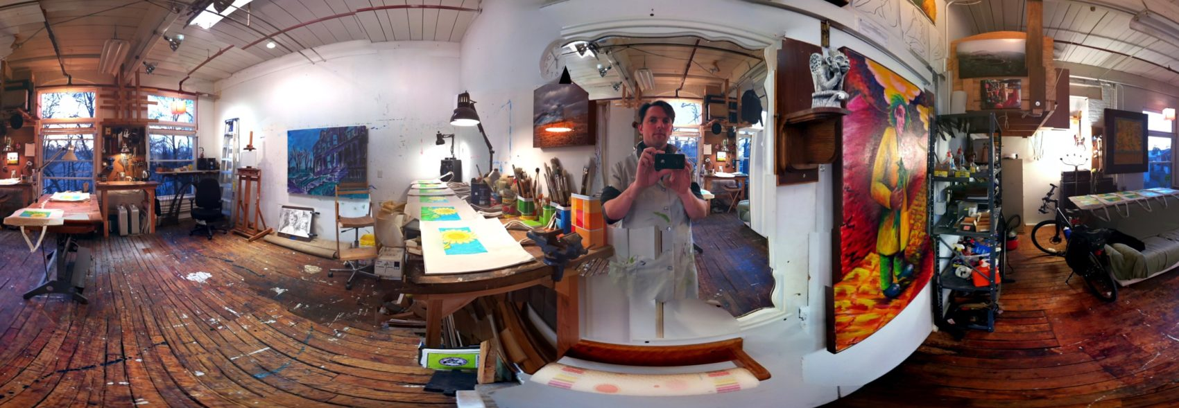Trace Meek's art studio at One Cottage Street