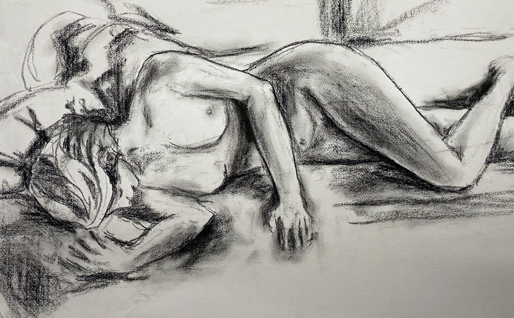 Figure Drawing by Trace Meek