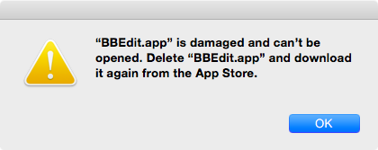 BBEdit damaged