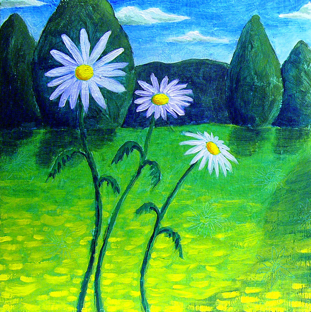 Daisies painting by Trace Meek
