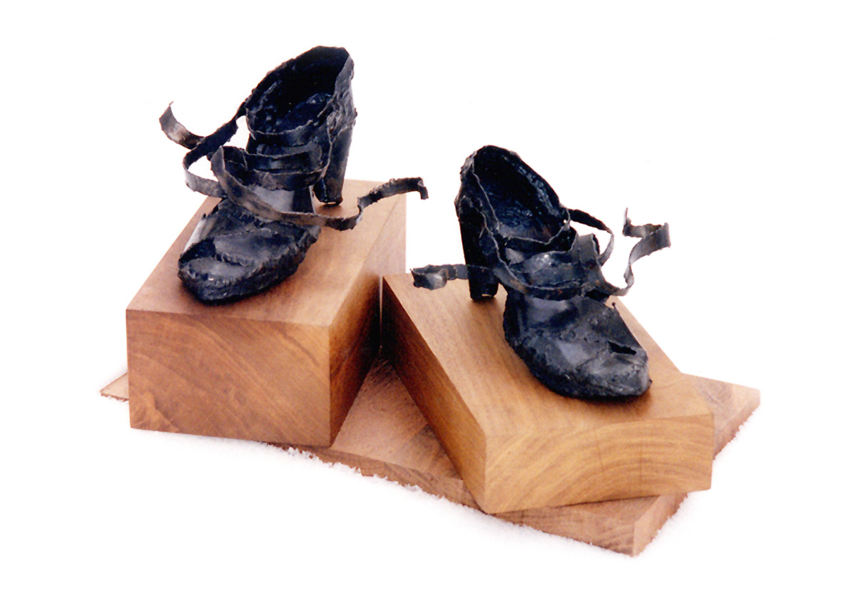 Muse Shoes sculpture by Trace Meek