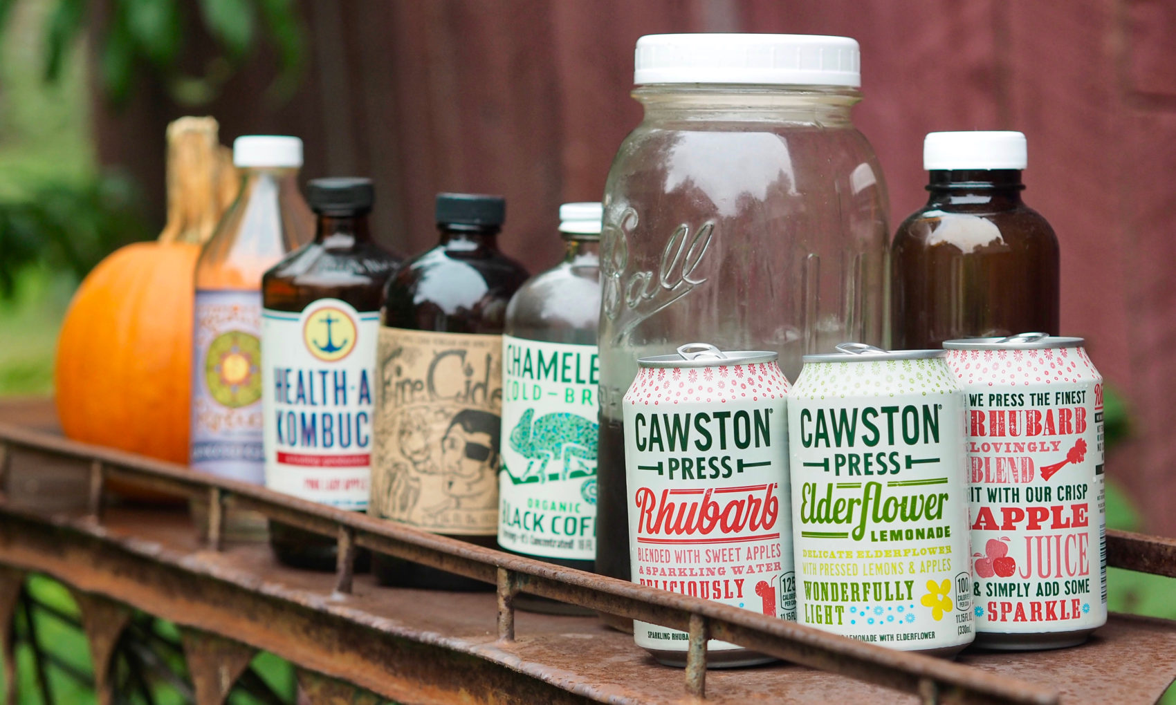 A selection of artisanal beverages