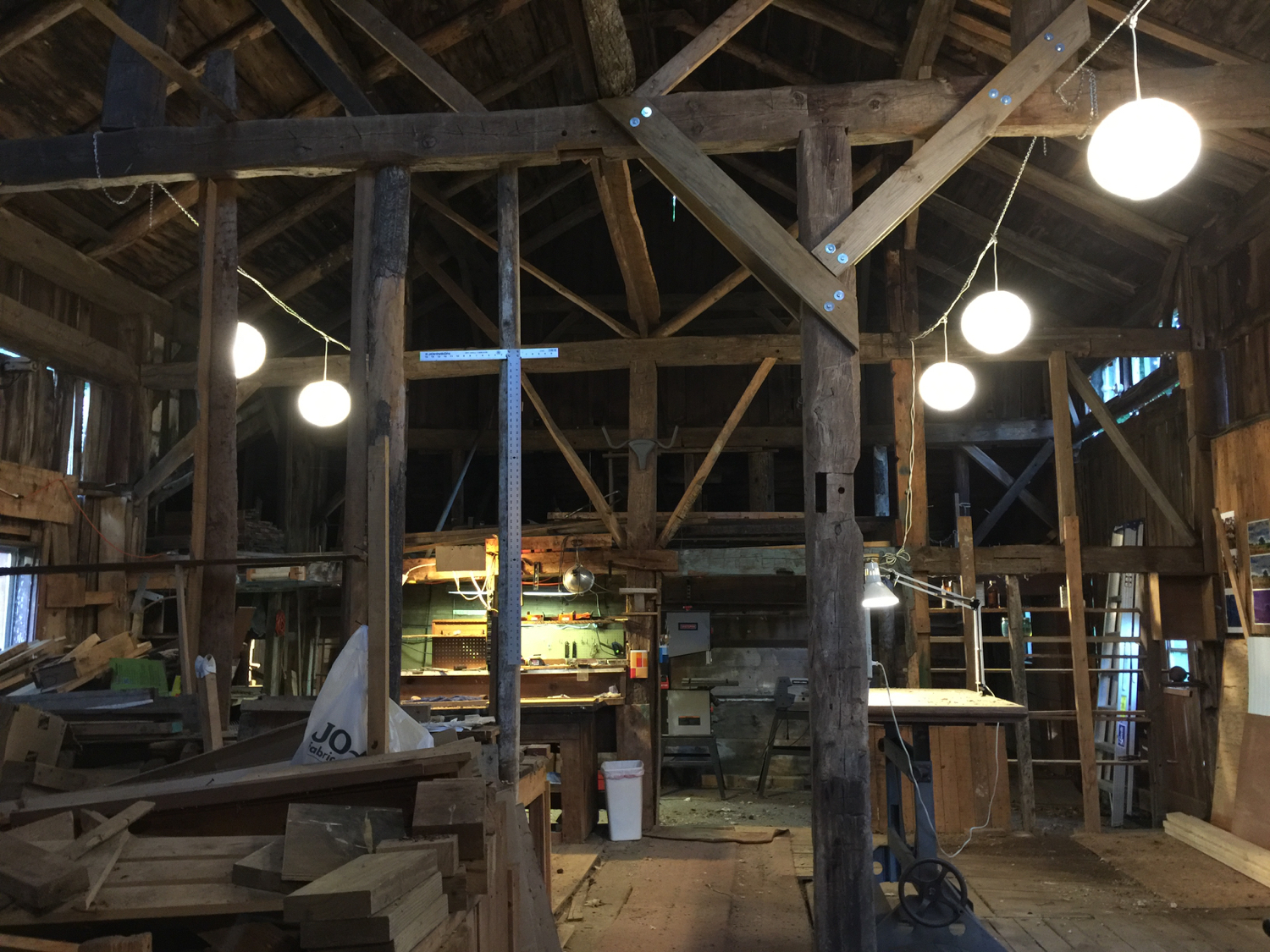 In the barn — copyright Trace Meek