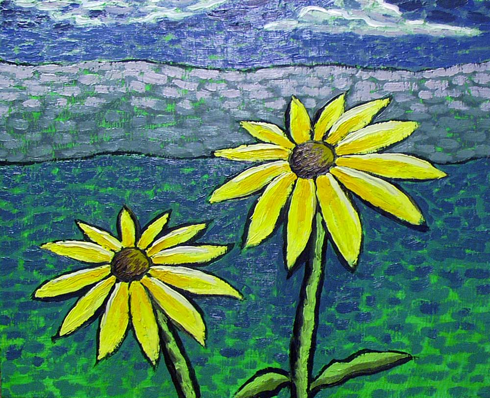 Black Eyed Susans painting by Trace Meek
