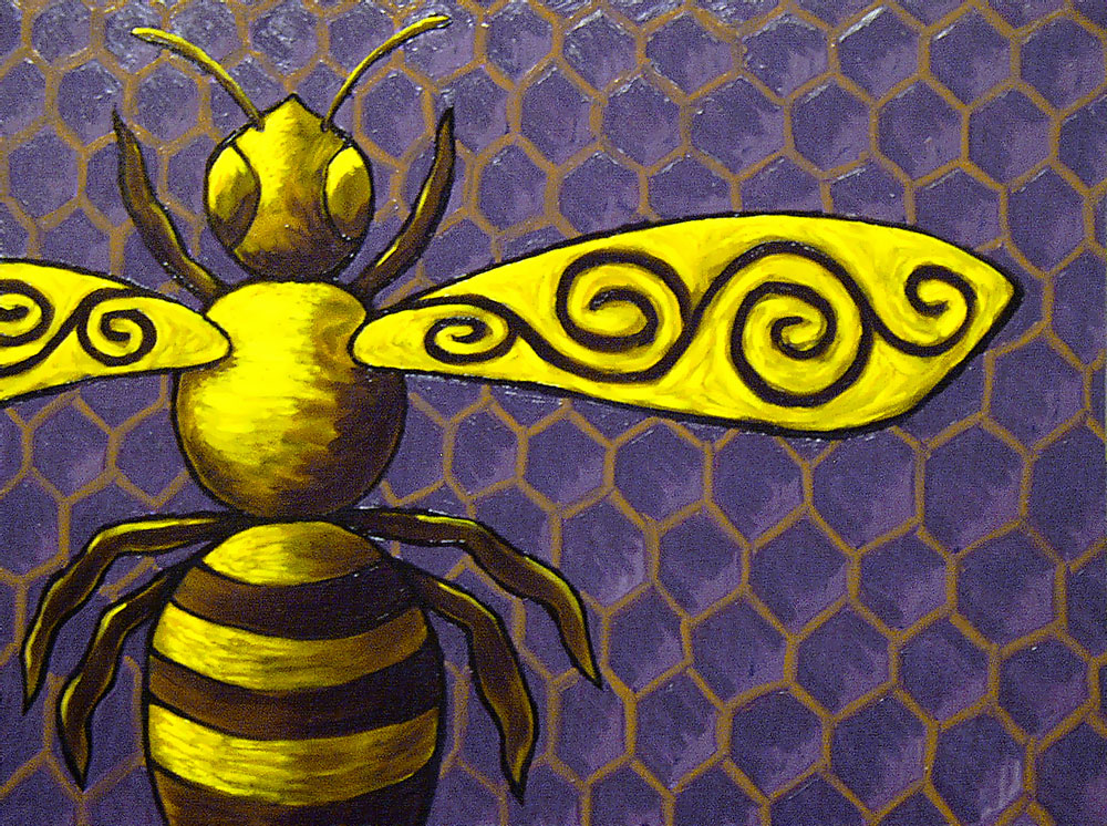 Hunny Bee (Honey Bee) painting by Trace Meek