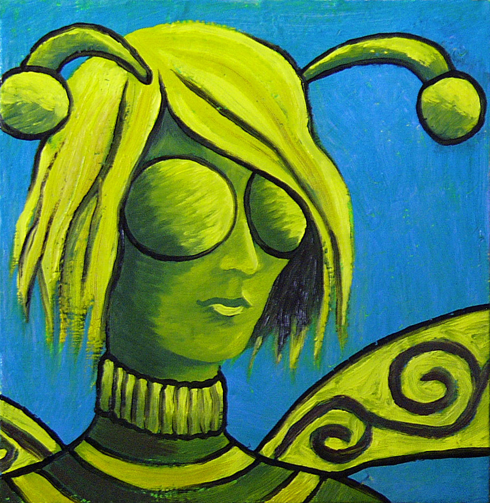 Queen Bee painting by Trace Meek