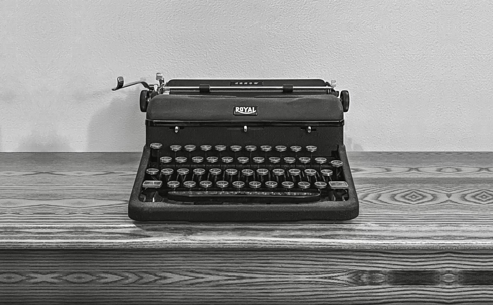 Royal Arrow Typewriter - Photo by Trace Meek